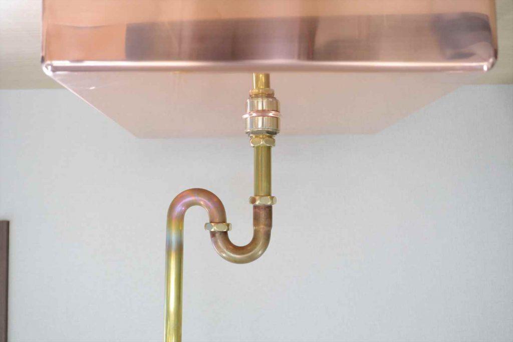 銅シンク 排水 Sトラ